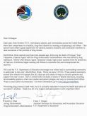 In this letter, signed by DEA Acting Administrator Timothy Shea and Department of Education official Frank Brogan, the leaders promote the celebration of Red Ribbon Week in schools.