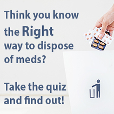 drug disposal quiz graphic